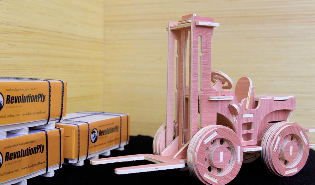 <p><em>RevolutionPly</em>® plywood used to craft a 3D puzzle</p>