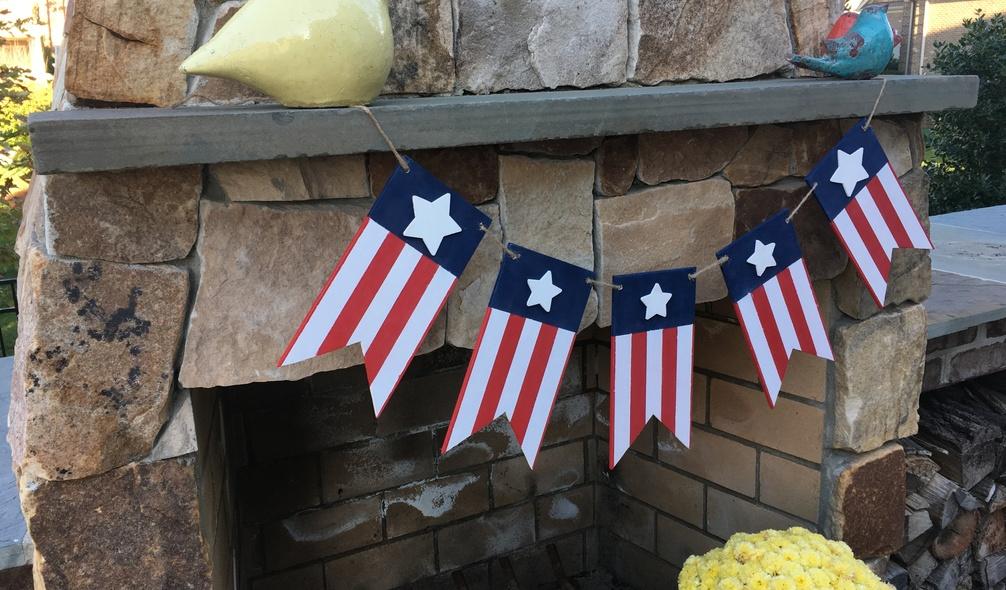 <p><em>RevolutionPly</em>® plywood used to make a patriotic banner</p>