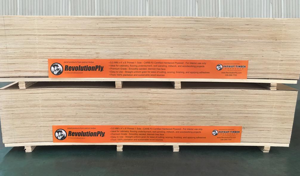 <p><em>RevolutionPly</em>® Plywood On Product Signage</p>